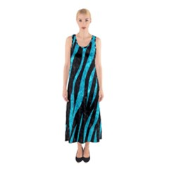 Skin3 Black Marble & Turquoise Marble Sleeveless Maxi Dress