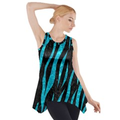 Skin3 Black Marble & Turquoise Marble Side Drop Tank Tunic