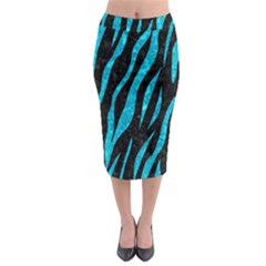 SKN3 BK-TQ MARBLE Midi Pencil Skirt