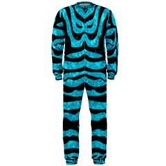 Skin2 Black Marble & Turquoise Marble (r) Onepiece Jumpsuit (men)