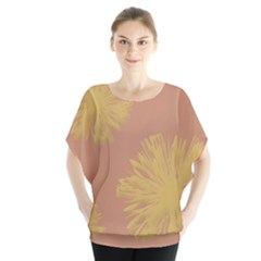 Flower Yellow Brown Blouse