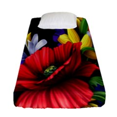 Flowers Bouquet Fitted Sheet (single Size)