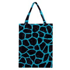 Skin1 Black Marble & Turquoise Marble (r) Classic Tote Bag