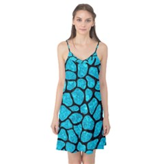 Skin1 Black Marble & Turquoise Marble Camis Nightgown