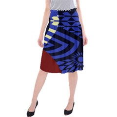 Formation Thumb Midi Beach Skirt