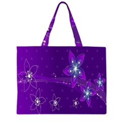 Flowers Purple Large Tote Bag