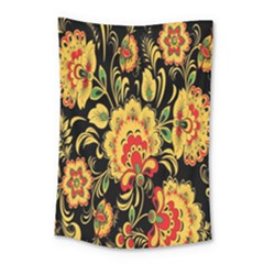 Flower Yellow Green Red Small Tapestry
