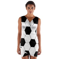 Foolball Ball Sport Soccer Wrap Front Bodycon Dress