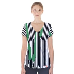Girl Collective Artists Short Sleeve Front Detail Top