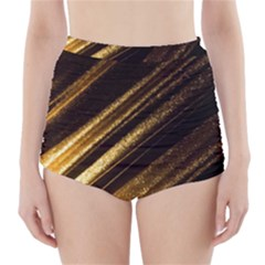 Gold High-Waisted Bikini Bottoms