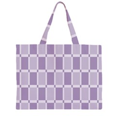 Gray Purple Large Tote Bag