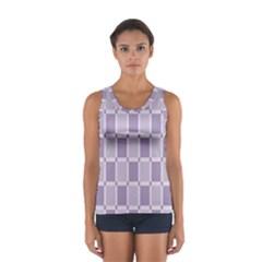 Gray Purple Women s Sport Tank Top