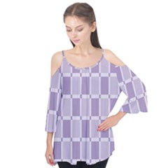 Gray Purple Flutter Tees
