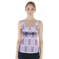 Gray Purple Racer Back Sports Top