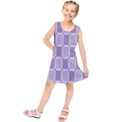 Gray Purple Kids  Tunic Dress