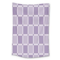 Gray Purple Large Tapestry