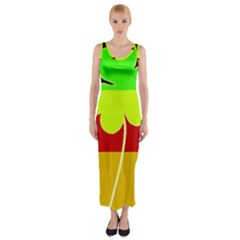 Irish German Germany Ireland Funny St Patrick Flag Fitted Maxi Dress