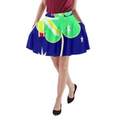 Irish Australian Australia Ireland Shamrock Funny St Patrick Flag A-Line Pocket Skirt