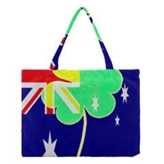 Irish Australian Australia Ireland Shamrock Funny St Patrick Flag Medium Tote Bag