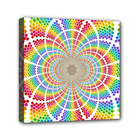 Color Background Structure Lines Mini Canvas 6  X 6