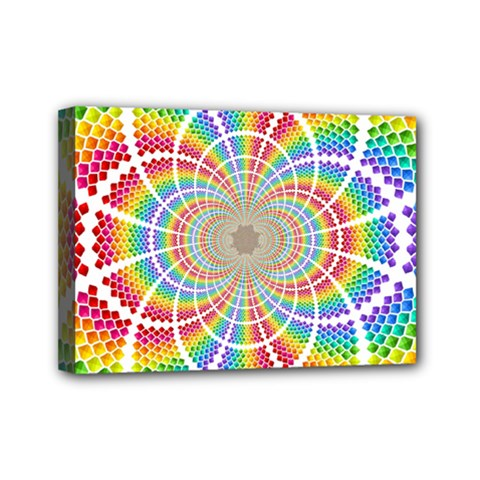 Color Background Structure Lines Mini Canvas 7  X 5
