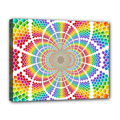 Color Background Structure Lines Canvas 14  X 11