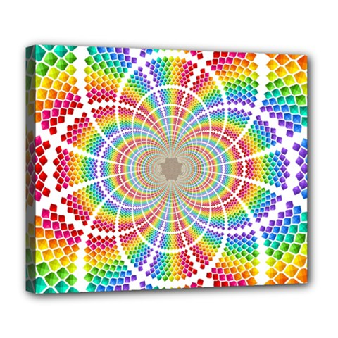 Color Background Structure Lines Deluxe Canvas 24  X 20