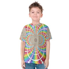 Color Background Structure Lines Kids  Cotton Tee
