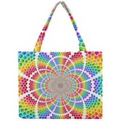 Color Background Structure Lines Mini Tote Bag