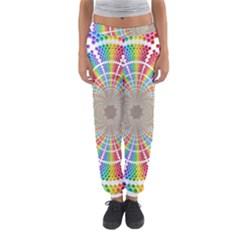 Color Background Structure Lines Women s Jogger Sweatpants