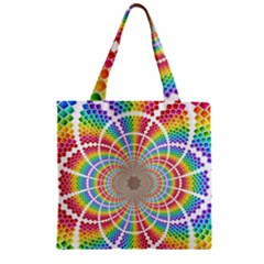 Color Background Structure Lines Zipper Grocery Tote Bag