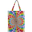 Color Background Structure Lines Zipper Classic Tote Bag View1