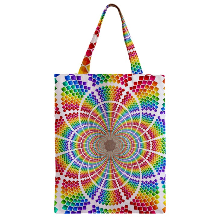 Color Background Structure Lines Zipper Classic Tote Bag