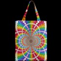 Color Background Structure Lines Zipper Classic Tote Bag View2