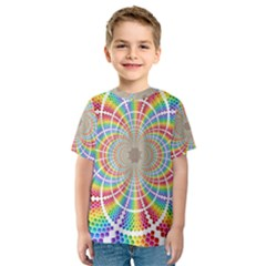 Color Background Structure Lines Kids  Sport Mesh Tee