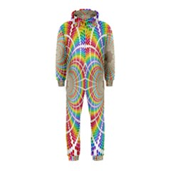 Color Background Structure Lines Hooded Jumpsuit (kids)