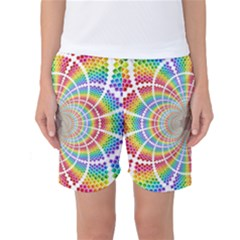 Color Background Structure Lines Women s Basketball Shorts