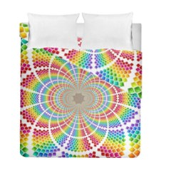 Color Background Structure Lines Duvet Cover Double Side (full/ Double Size)