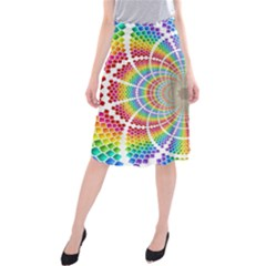 Color Background Structure Lines Midi Beach Skirt