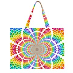 Color Background Structure Lines Large Tote Bag
