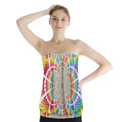 Color Background Structure Lines Strapless Top
