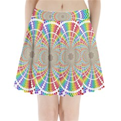 Color Background Structure Lines Pleated Mini Skirt