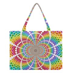 Color Background Structure Lines Medium Tote Bag
