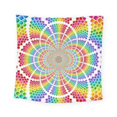 Color Background Structure Lines Square Tapestry (small)