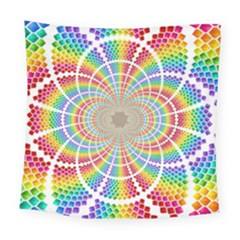 Color Background Structure Lines Square Tapestry (large)