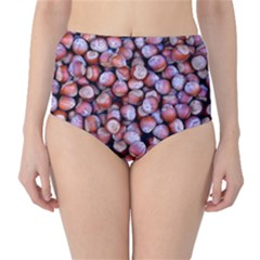 Hazelnuts Nuts Market Brown Nut High Waist Bikini Bottoms