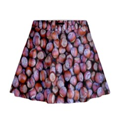 Hazelnuts Nuts Market Brown Nut Mini Flare Skirt