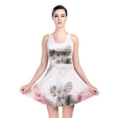 Elephant Heart Plush Vertical Toy Reversible Skater Dress