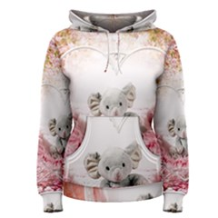 Elephant Heart Plush Vertical Toy Women s Pullover Hoodie