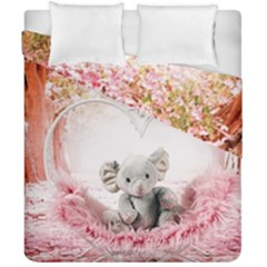 Elephant Heart Plush Vertical Toy Duvet Cover Double Side (california King Size)